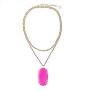 Kendra Scott Rae Necklace Pink